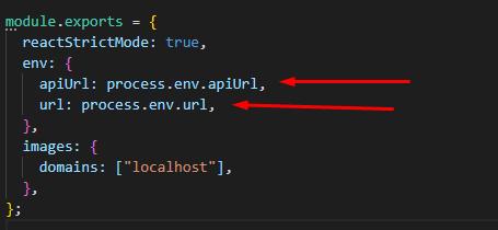 next js environment variables forwarding